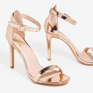 Good Glaze Stiletto Heel In Rose Gold. Size 10.